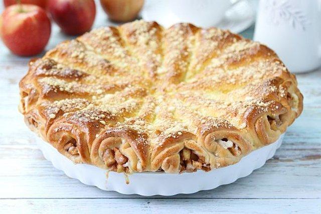 """Слоеный пирог """"Яблочные рожки"""""""
