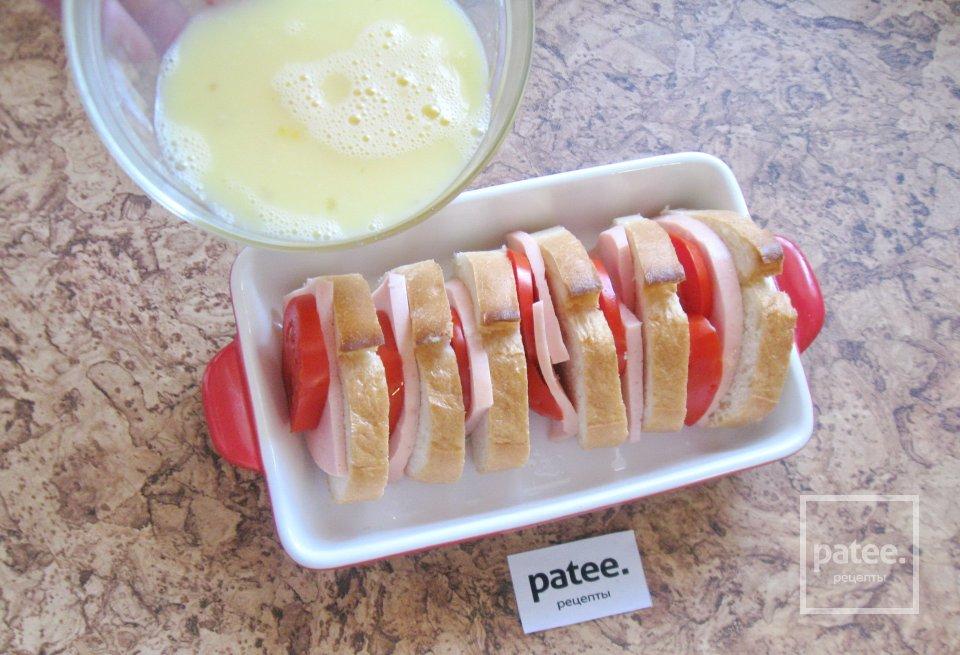 Горячие бутерброды веером