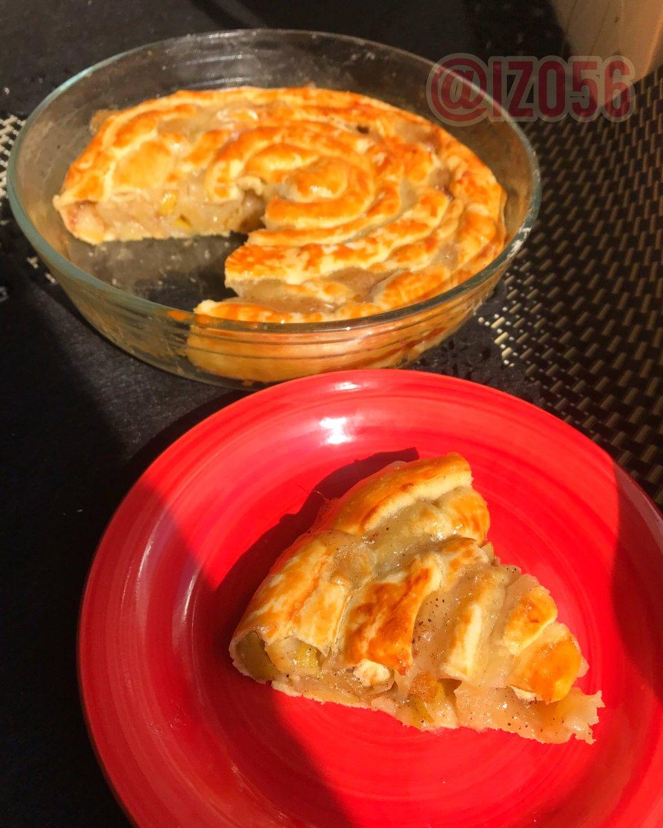 Пирог с грушами «Улитка»