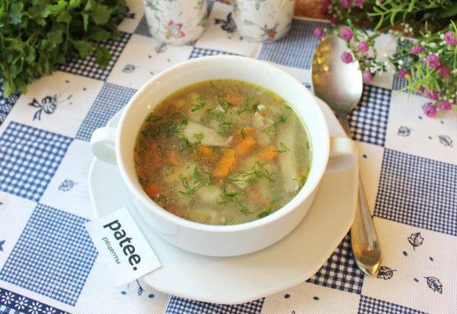 Гречневый суп с вешенками