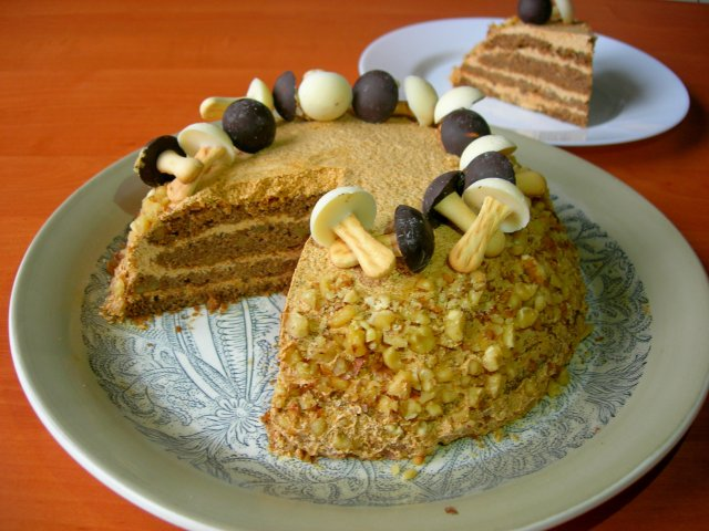 Орехово-кофейный торт / Торт на День рождения!
