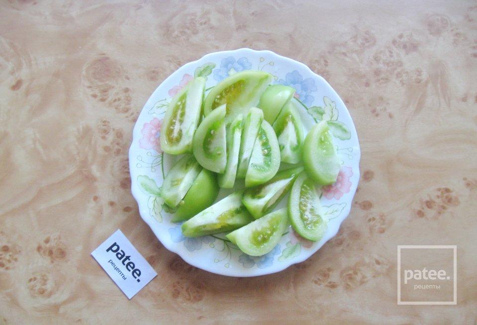"""Салат из зеленых помидоров """"Цветик-семицветик"""""""