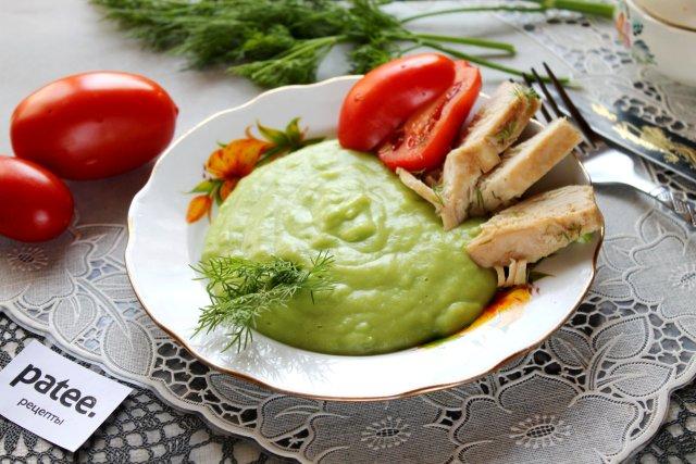 Пюре из зеленого горошка с овощами