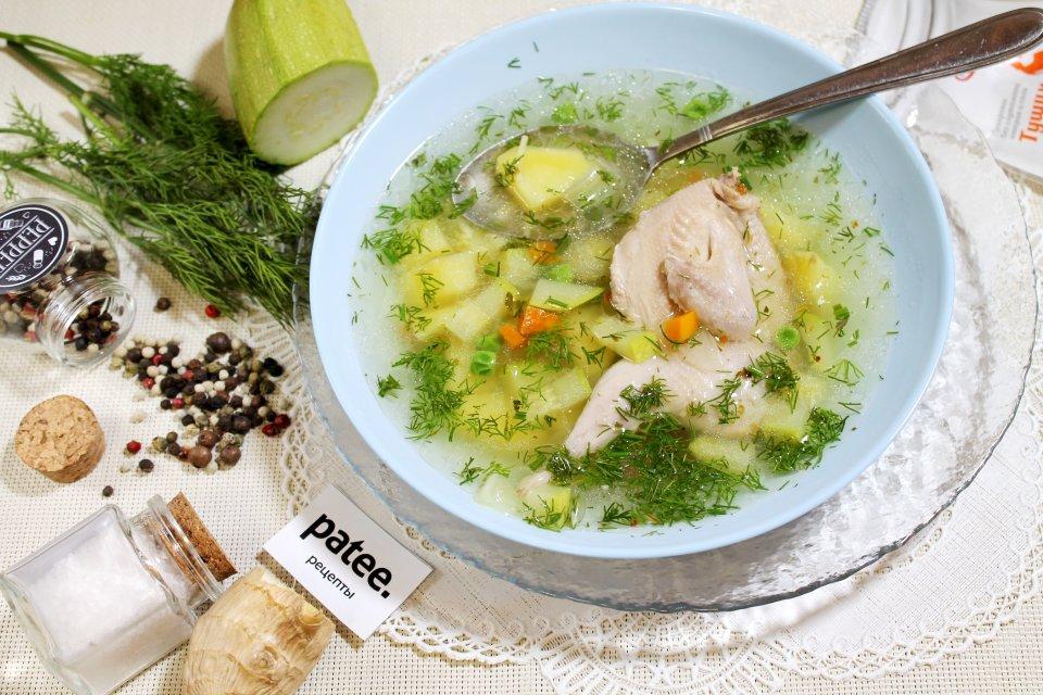 Овощной суп с перепелами