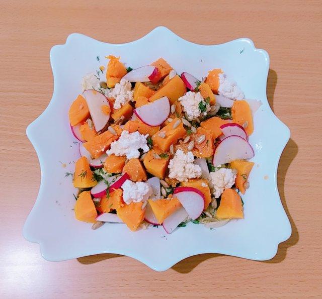 ПП салат из тыквы и редиса