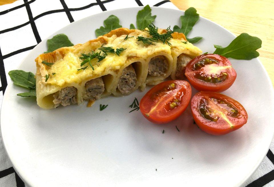 Запеканка из макарон с фаршем и сыром