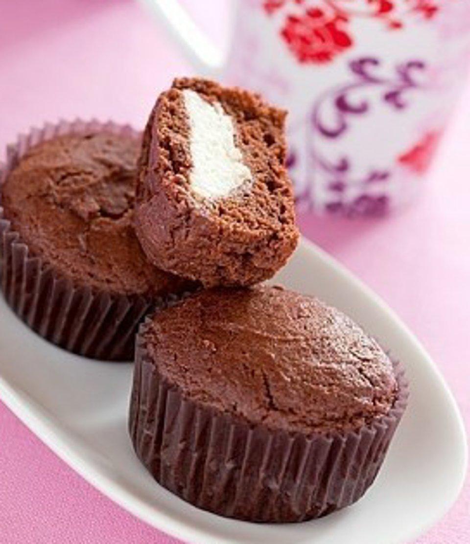 Шоколадно-творожные кексы
