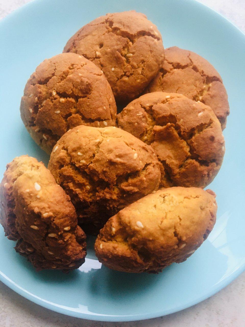 Вкусное пп печенье с мёдом и кунжутом 😋