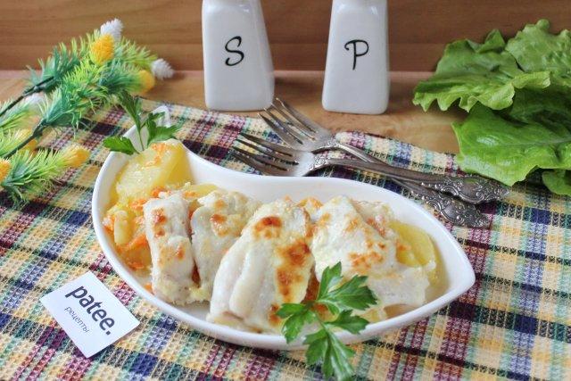 Филе судака с картофелем в духовке