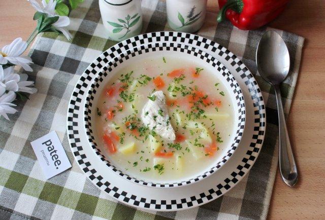 Овсяный суп с куриным филе