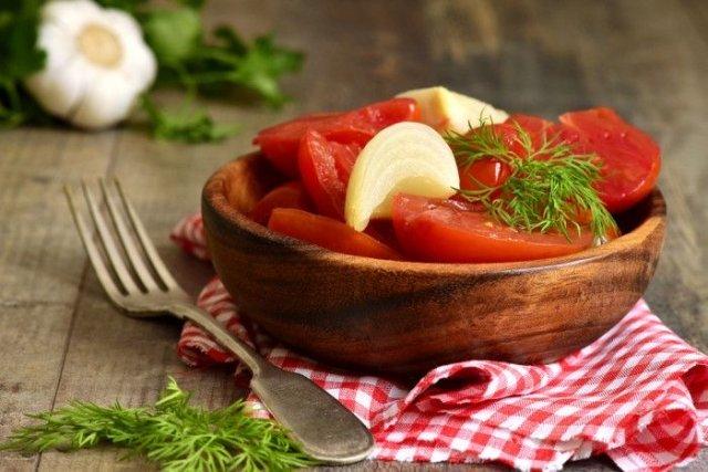 Быстрые маринованные помидоры 🍅