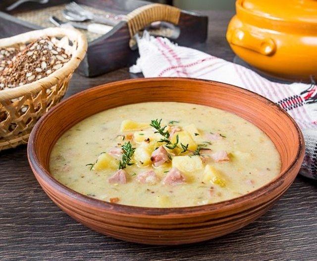 Картофельный суп с ветчиной 🍲