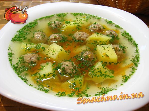 фото рецепт суп с тефтелями